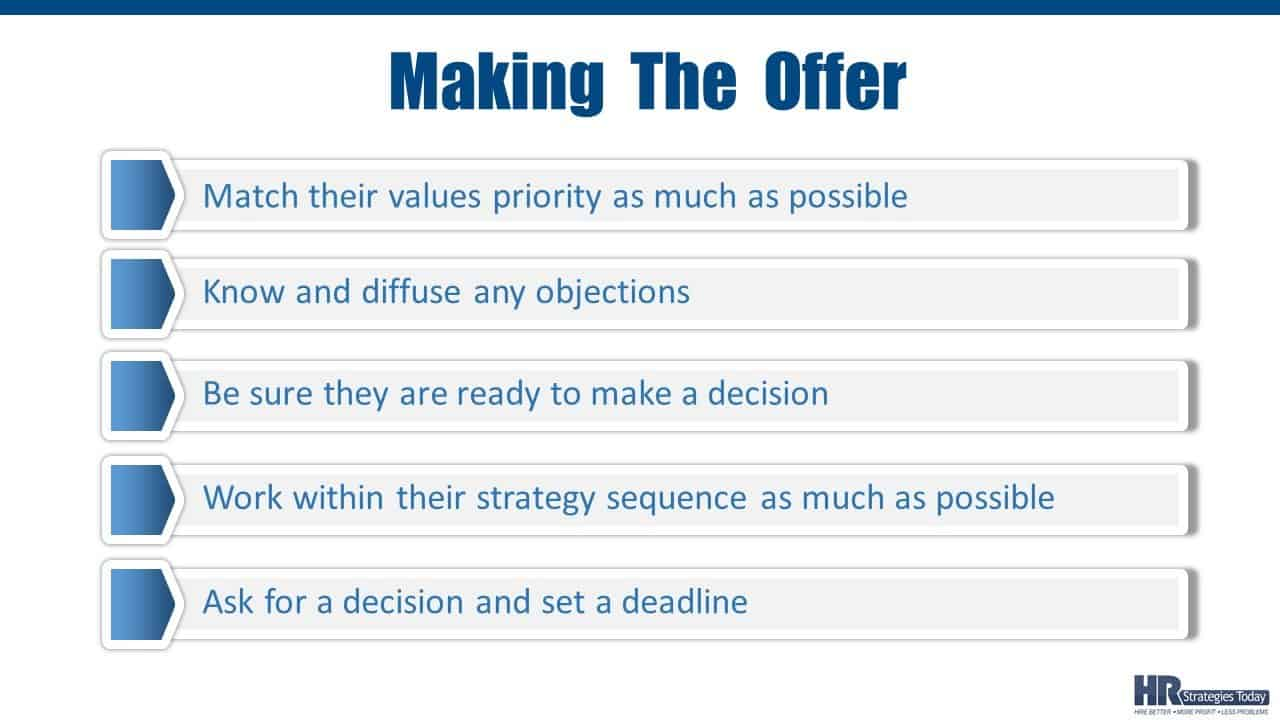 How To Make The Offer