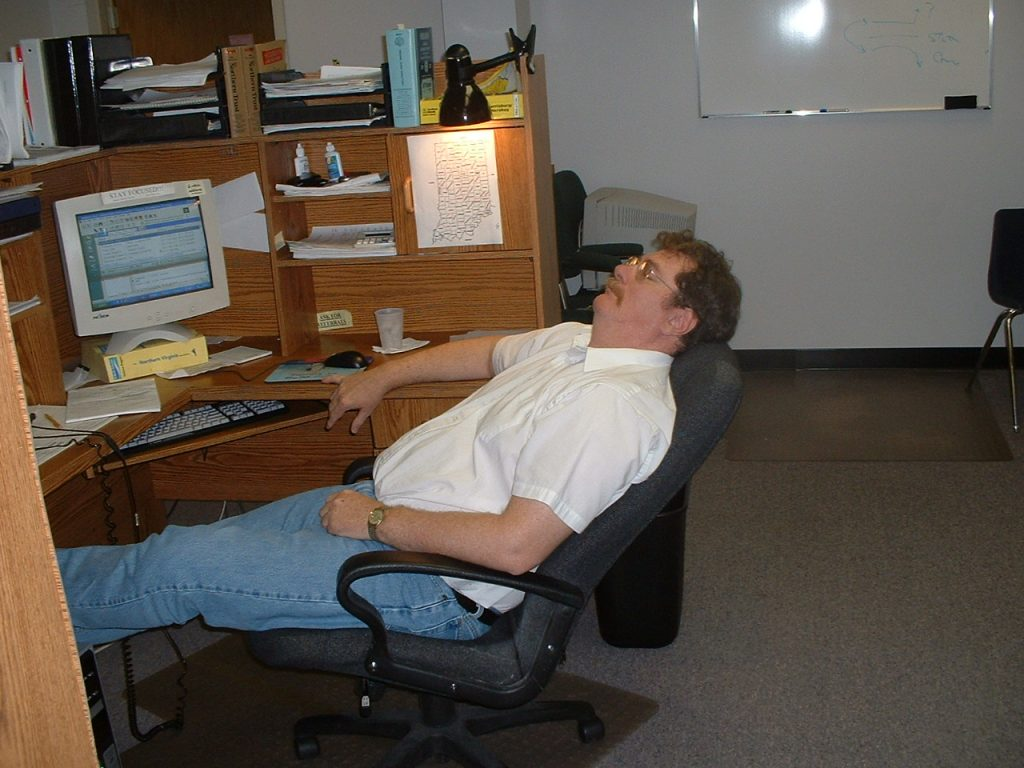 Employee Sleeping