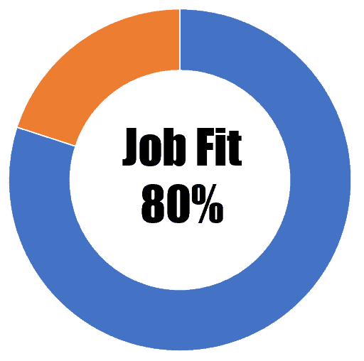 Job Fit 80%